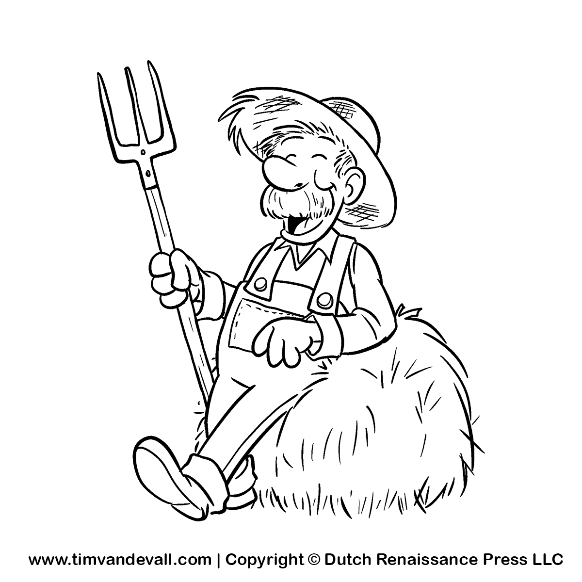 The gallery for --> Farmer Black And White Clipart