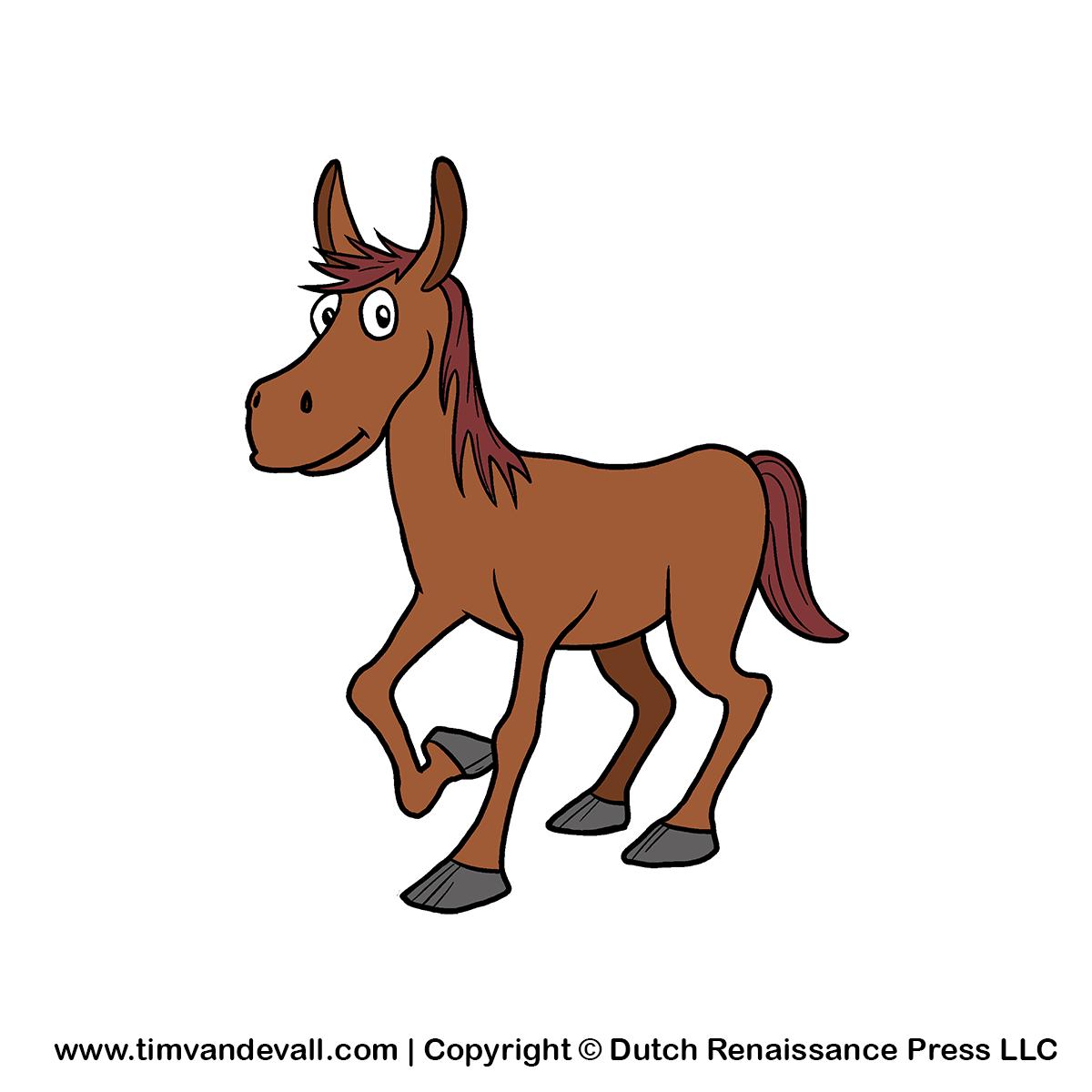 Free cartoon horse clipart for kids | Farm animal clipart