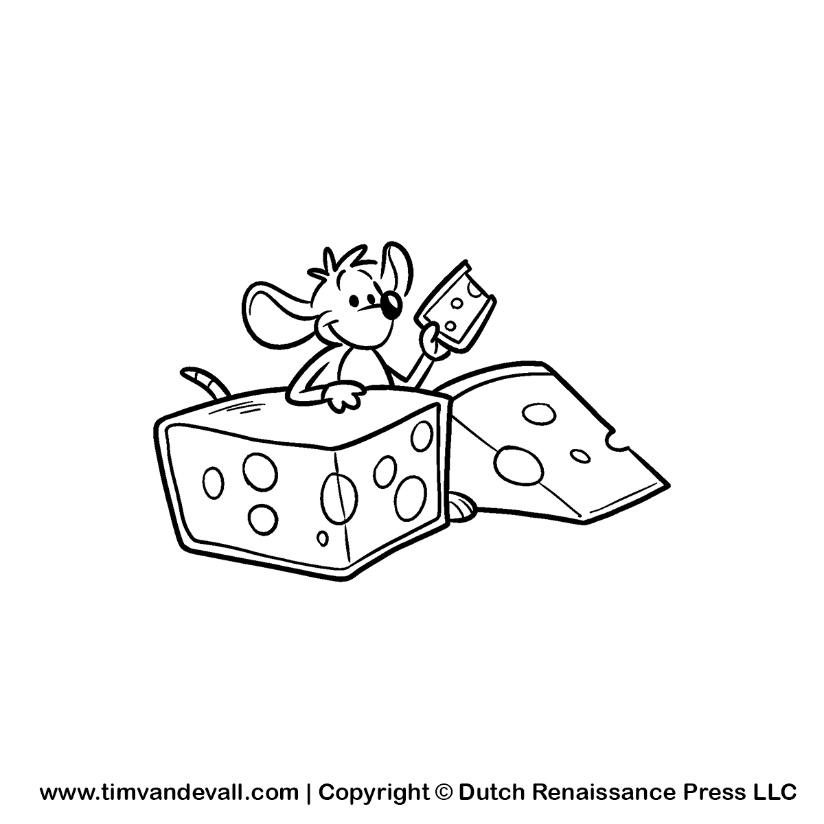 clipart mouse eating cheese - photo #45