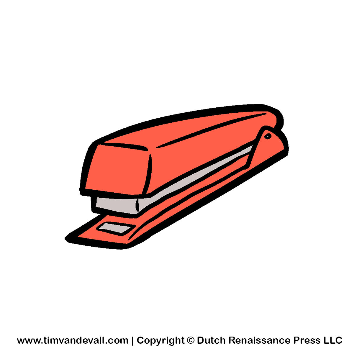 Free stapler clipart image for kids and teachers