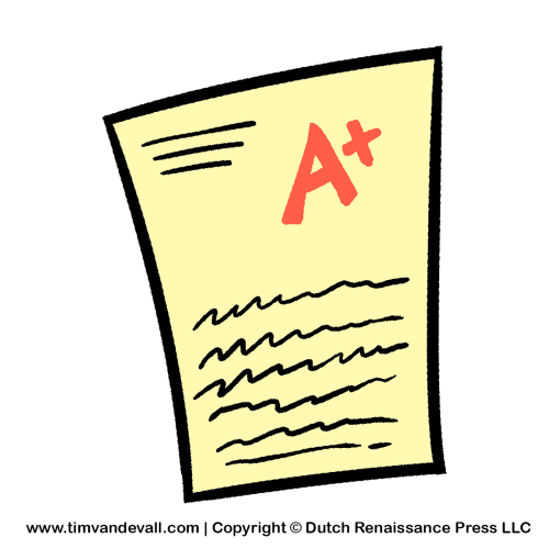 Test Paper Clipart Tim S Printables