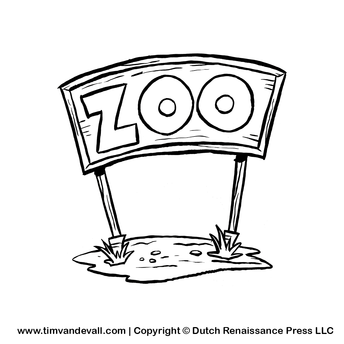 Zoo Sign ClipartZoo Clip Art Black And White