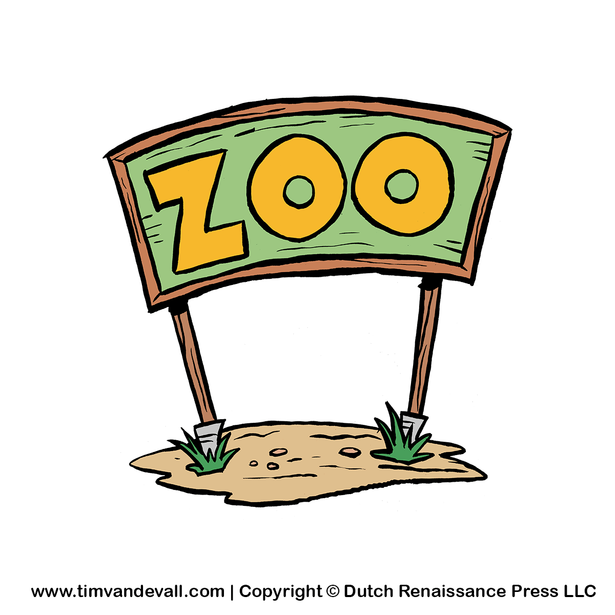 zoo-sign clipartZoo Clip Art Black And White