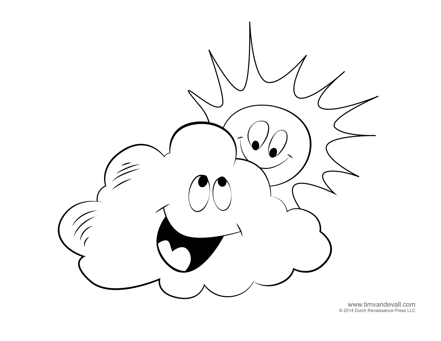 Clouds Coloring Pages Coloring Coloring Pages