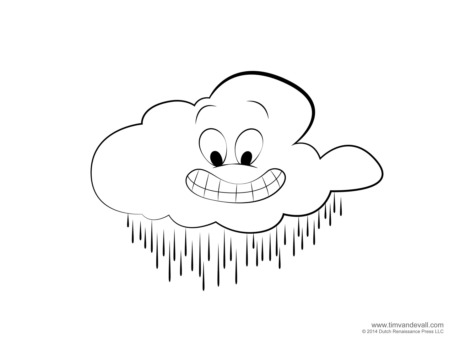 types of clouds coloring pages - photo#18
