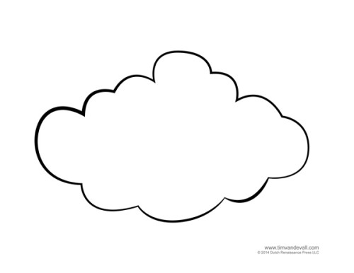 cloud template tim s printables