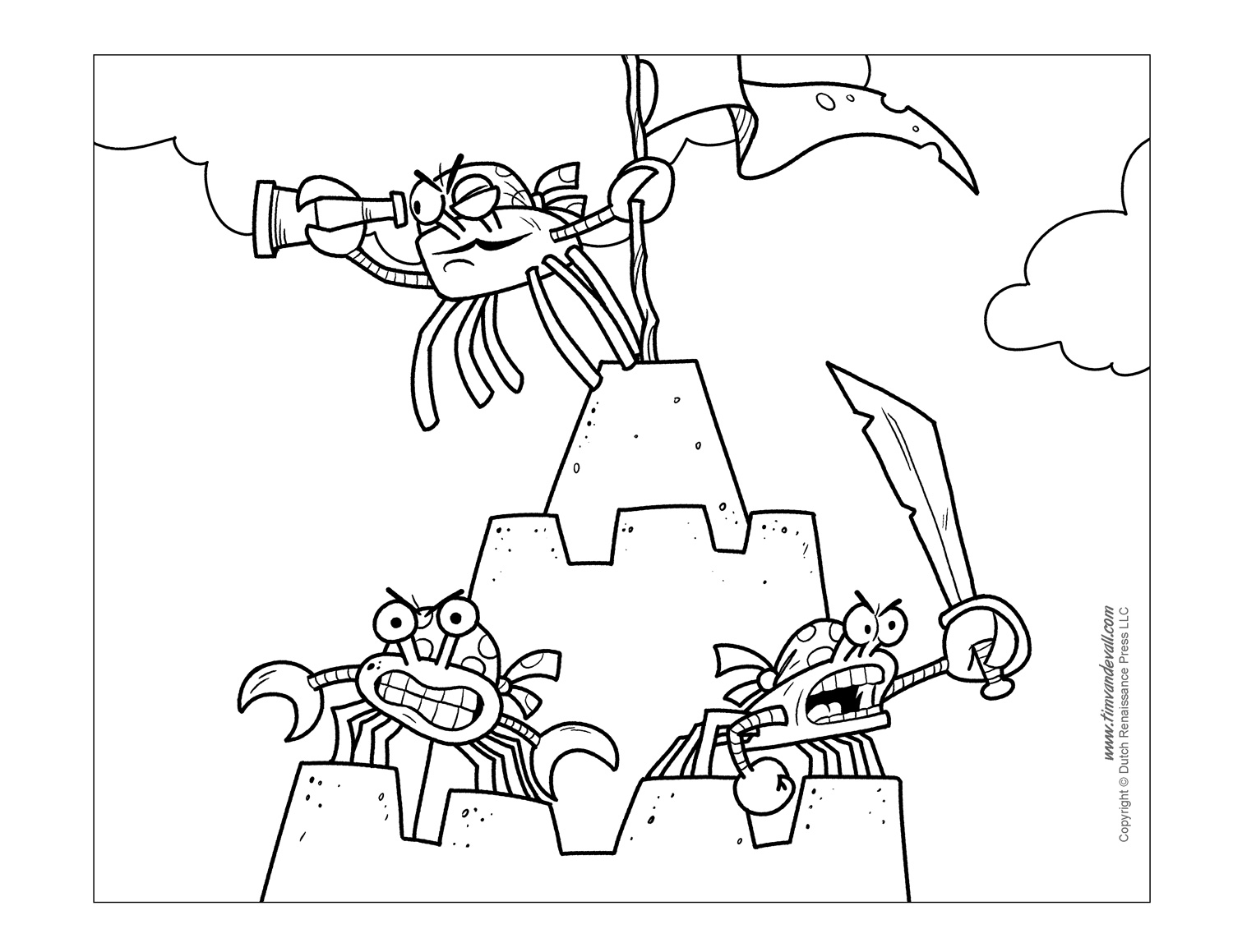 crab coloring pages - Crab Coloring Pages