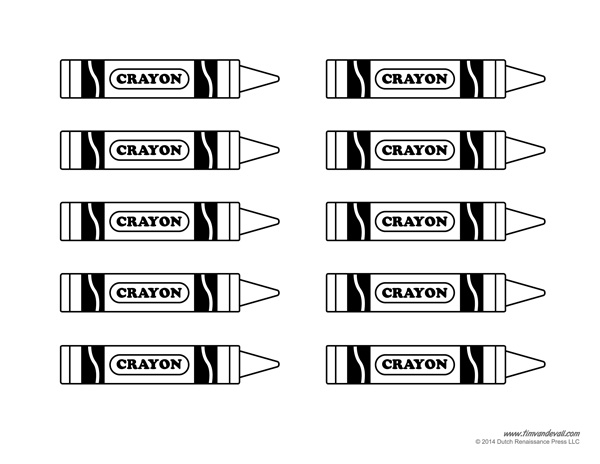photo about Printable Crayons named Crayon Template