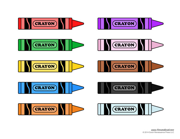 Tim van de vall comics printables for kids for Crayon labels template