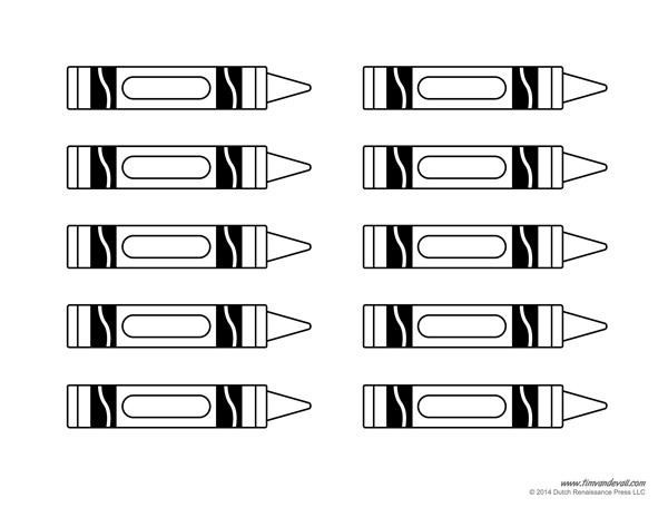 Gorgeous image for printable crayon template