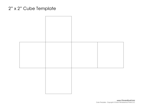 Printable Paper Cube Template | Learn how to make a cube out of paper