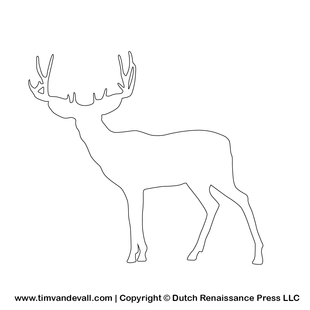 picture about Printable Deer Target named Prinable deer silhouette stencil and define tempalte