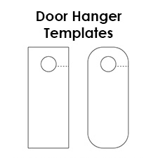 photograph about Printable Door Hanger Template titled Totally free Printable Doorway Hanger Templates Blank Downloadable PDFs