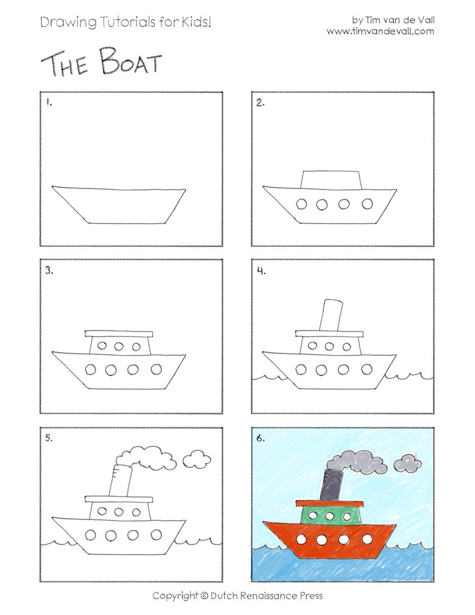draw a boat