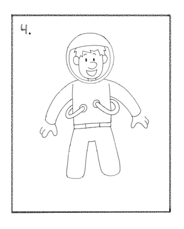 Astronaut Drawing Tutorial Steps - Tim's Printables
