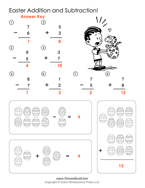 math worksheet : printable easter math worksheets  easter math activities : Checking Subtraction With Addition Worksheet