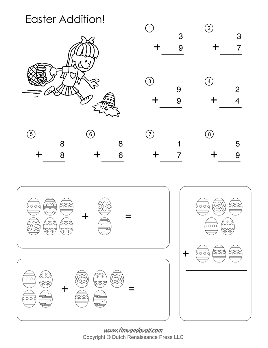 math worksheet : printable easter math worksheets  easter math activities : Math Activities Worksheets
