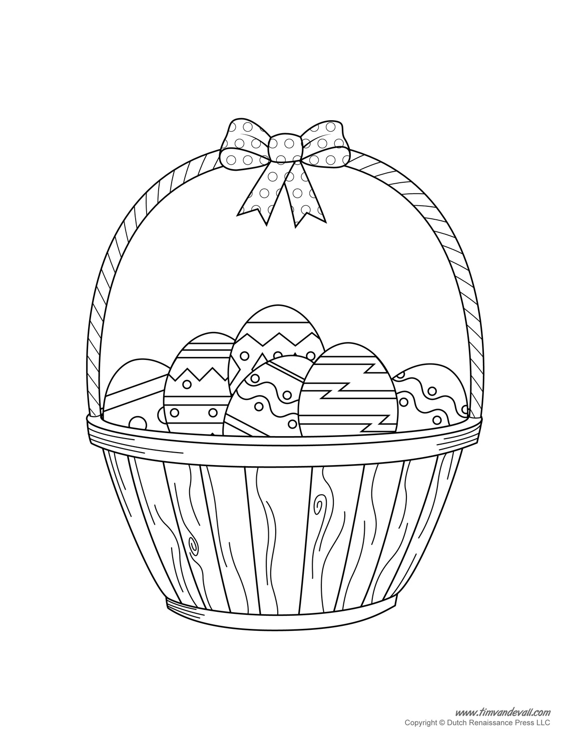coloring pages basket - photo #31
