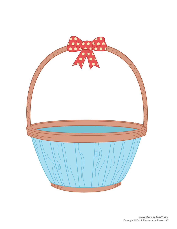 Easter basket template easter basket clipart easter craft for Clipart basket