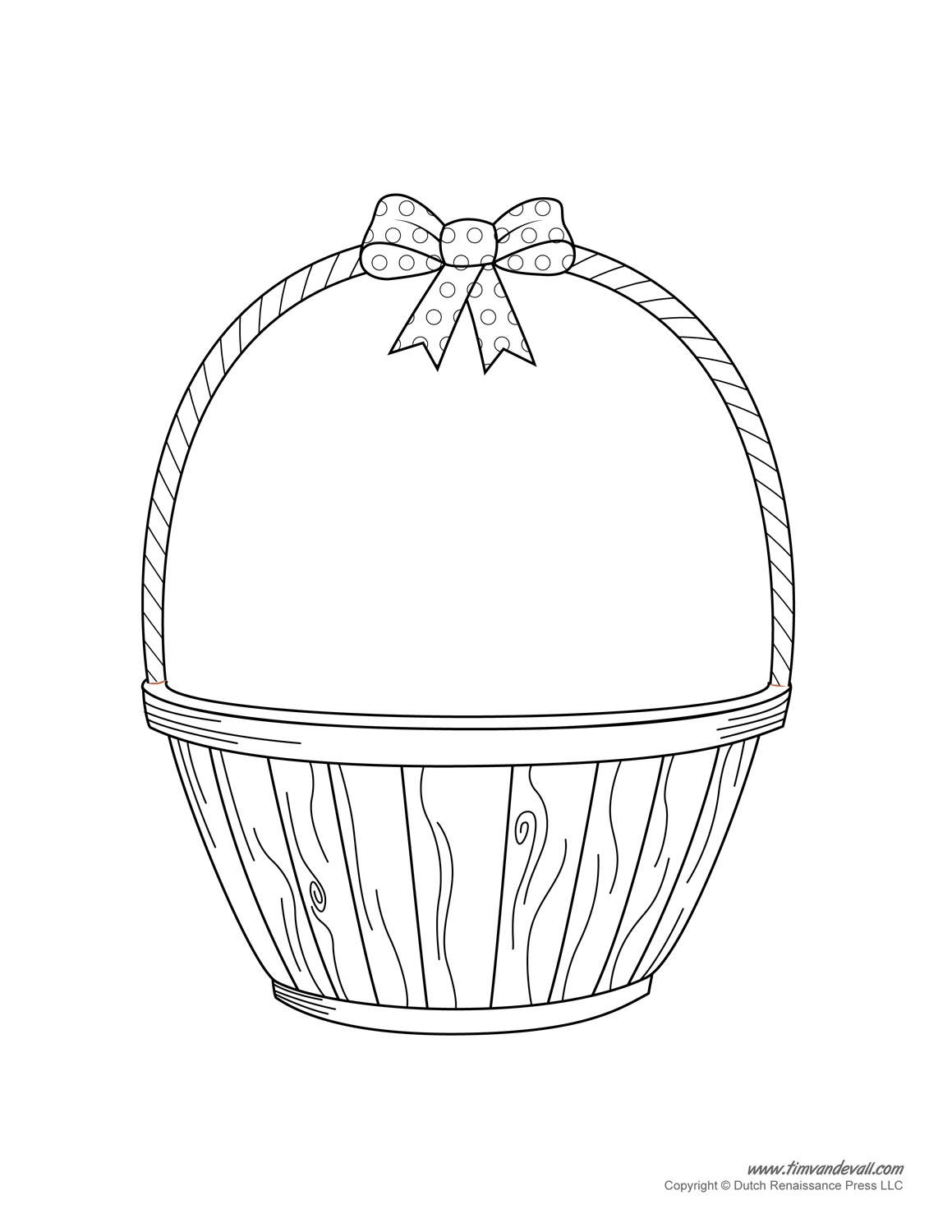 Basket Clip Art Black And White : Easter basket template clipart craft