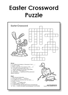 image relating to Easter Word Search Printable Worksheets named Free of charge Printable Easter Crossword - PDF Easter Printables
