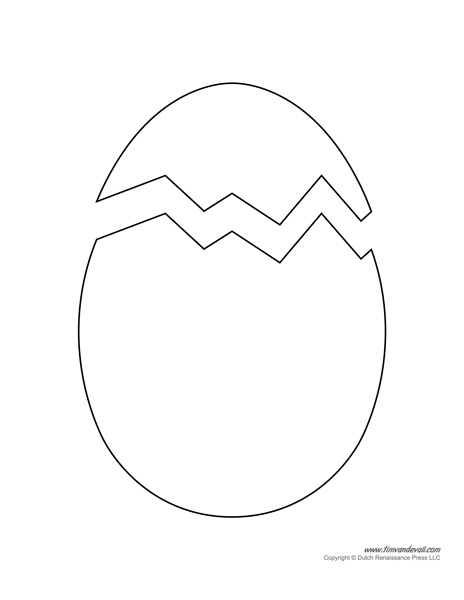Printable Easter Egg Templates