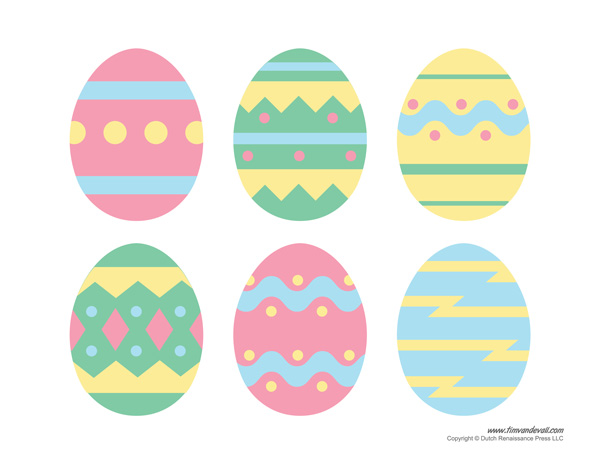 graphic about Printable Easter Decorations referred to as Printable Easter Egg Templates