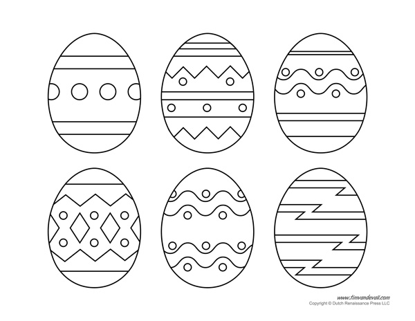 Printable easter egg templates for Easter bonnet printable templates
