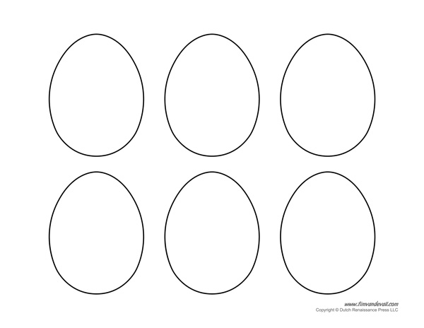 photo regarding Easter Egg Template Printable titled Printable Easter Egg Templates