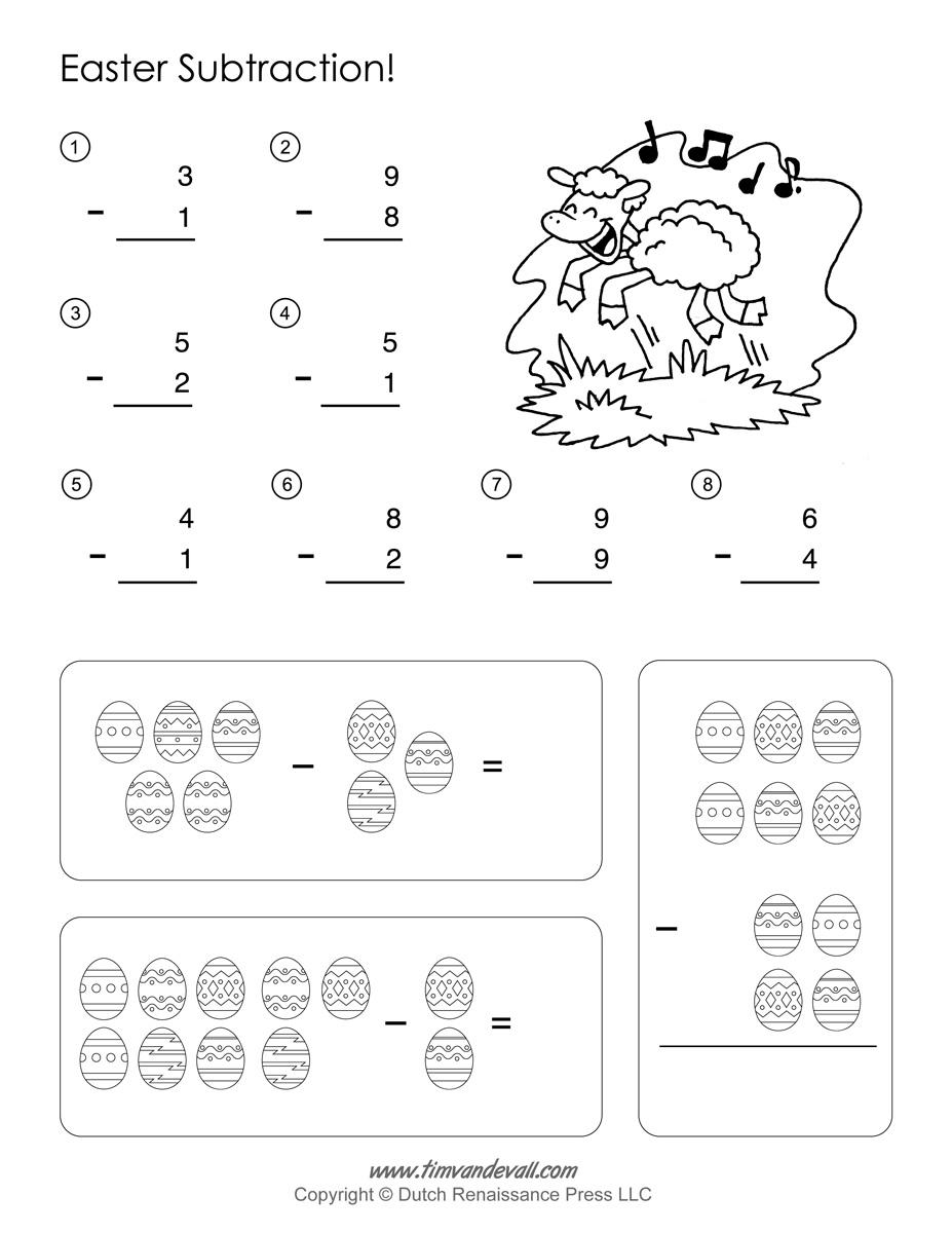 Easter phonics worksheets for kindergarten