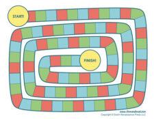 blank board game template