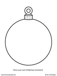 blank christmas ornament template
