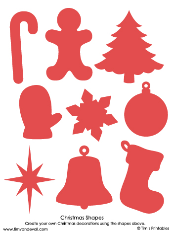 christmas shapes red