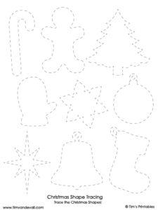 christmas shapes tracing