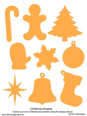christmas shapes yellow