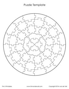 circular puzzle template