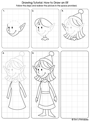 christmas step-by-step drawing tutorial