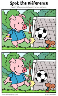 """Spot the Difference - """"The Soccer Players"""""""