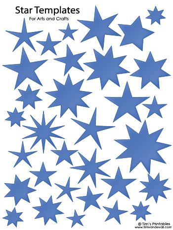 Star Templates - Blue