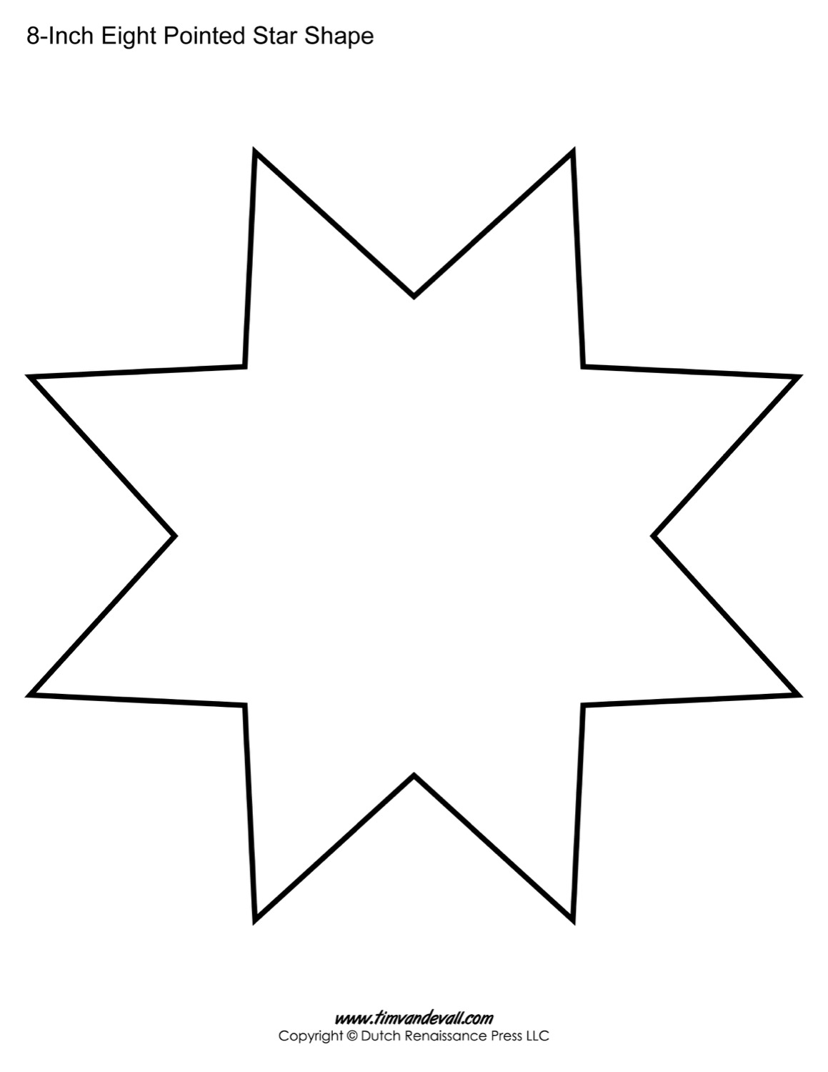 eight sided star shape