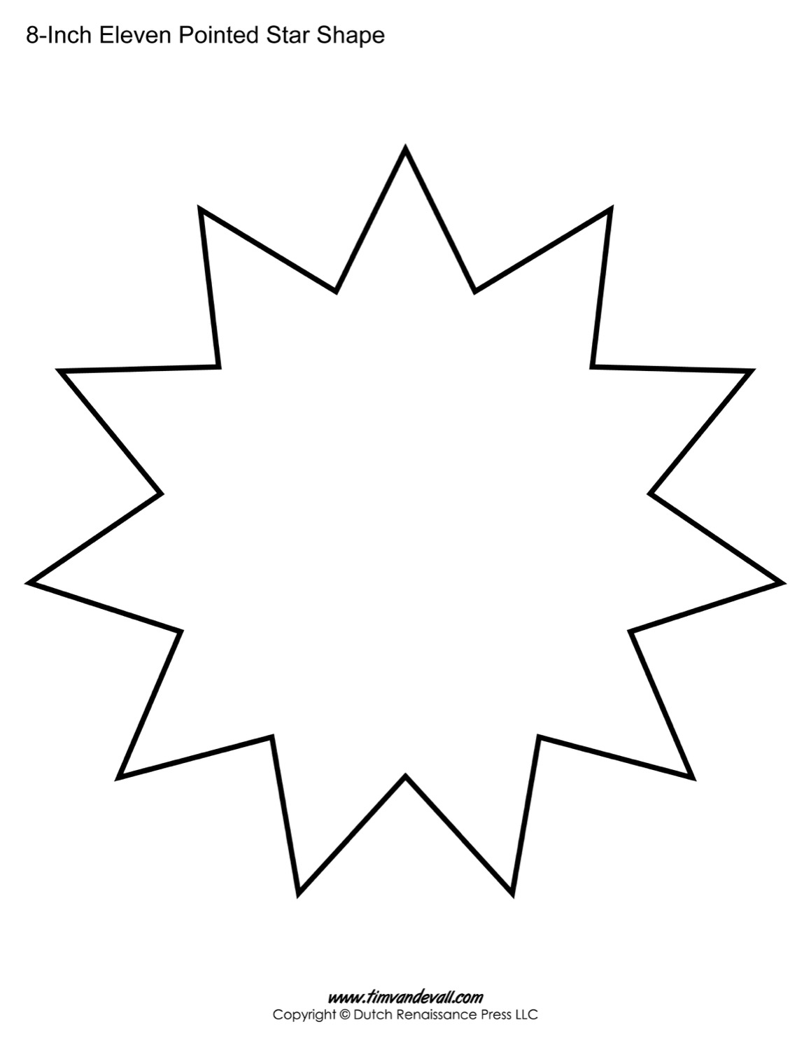 eleven sided star shape