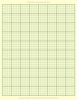 Engineering Graph Paper Template, 8.5x11 Letter, Printable PDF