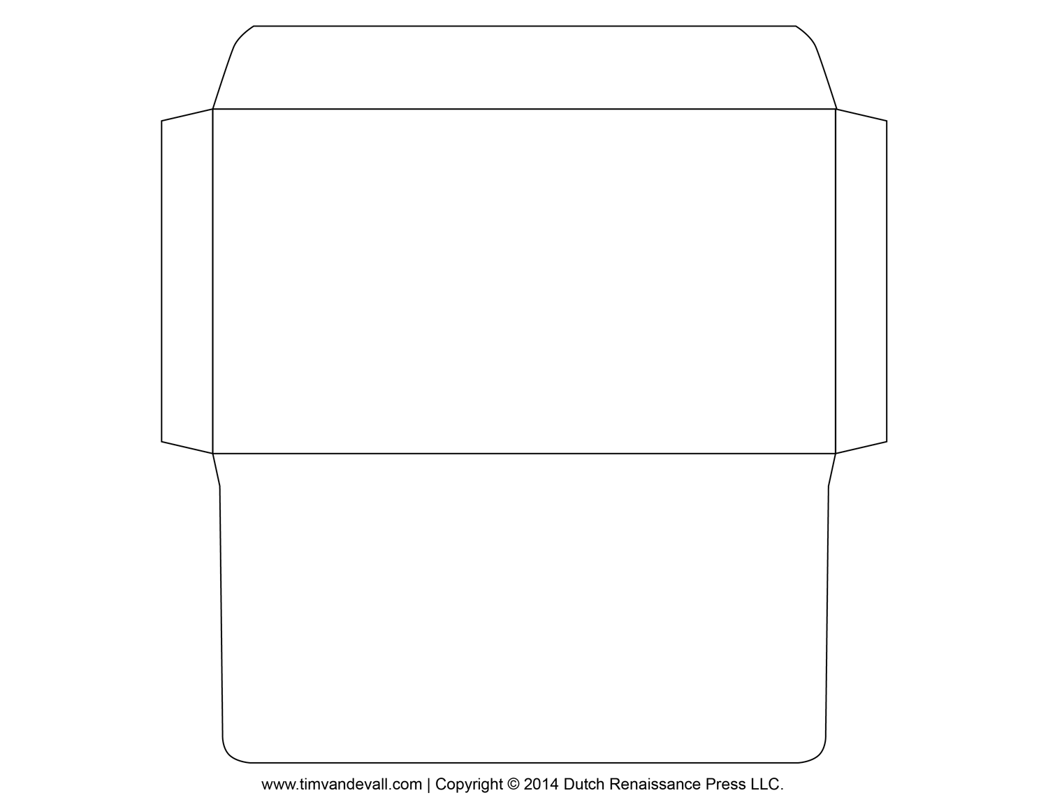 Free Printable Envelope Template - 5x7 envelope template word