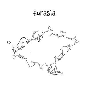 blank eurasia map