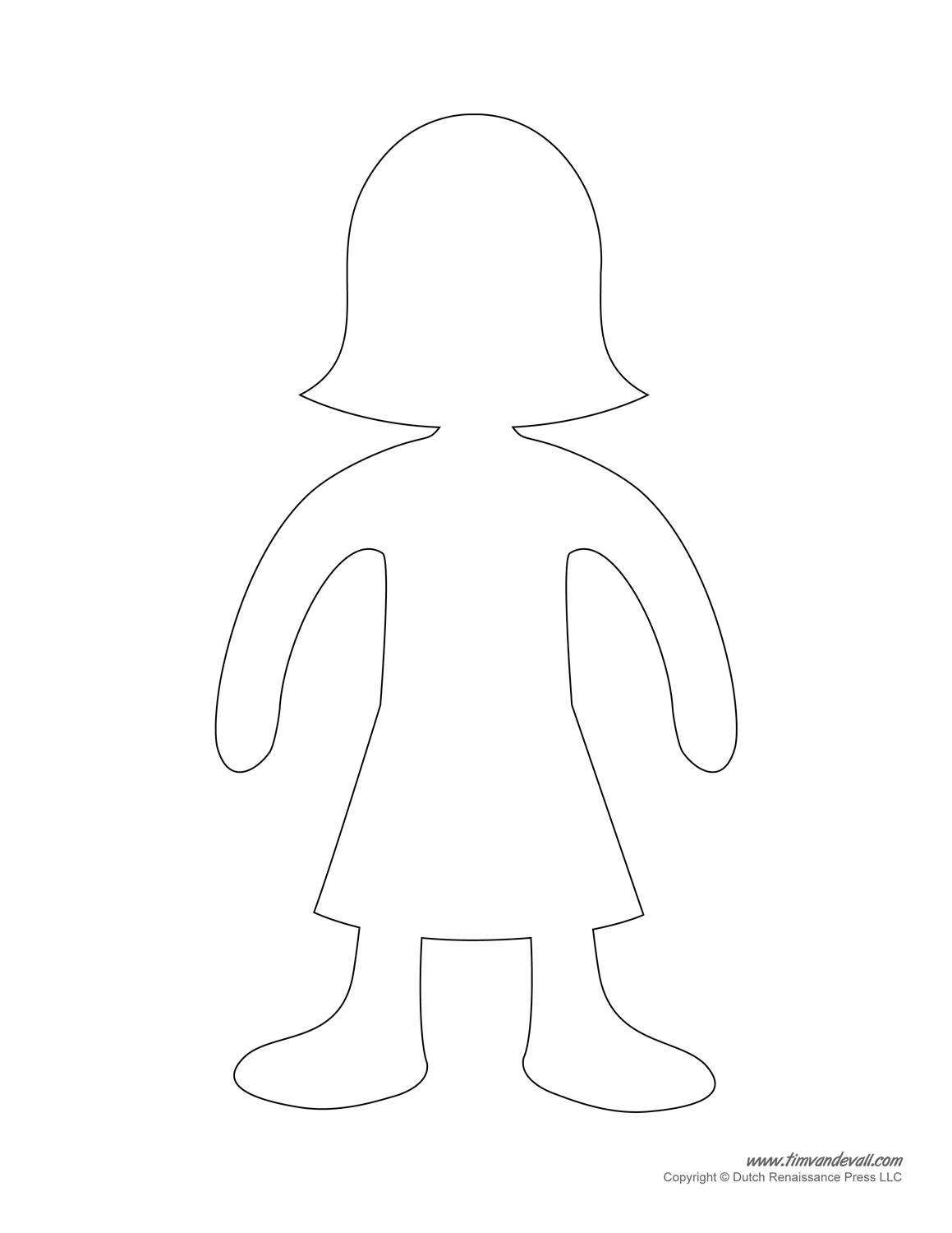 paper doll templates cut out - tim van de vall comics printables for kids