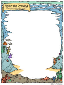 Finish the Drawing – What's Swimming in the Water?
