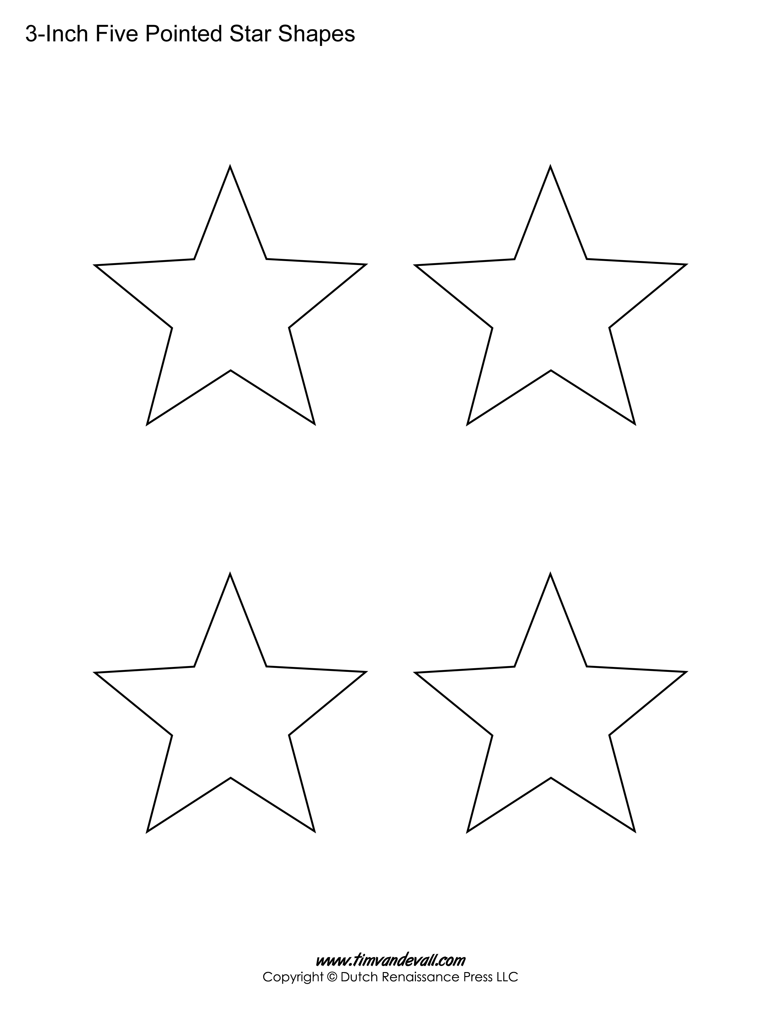 5 pointed stars