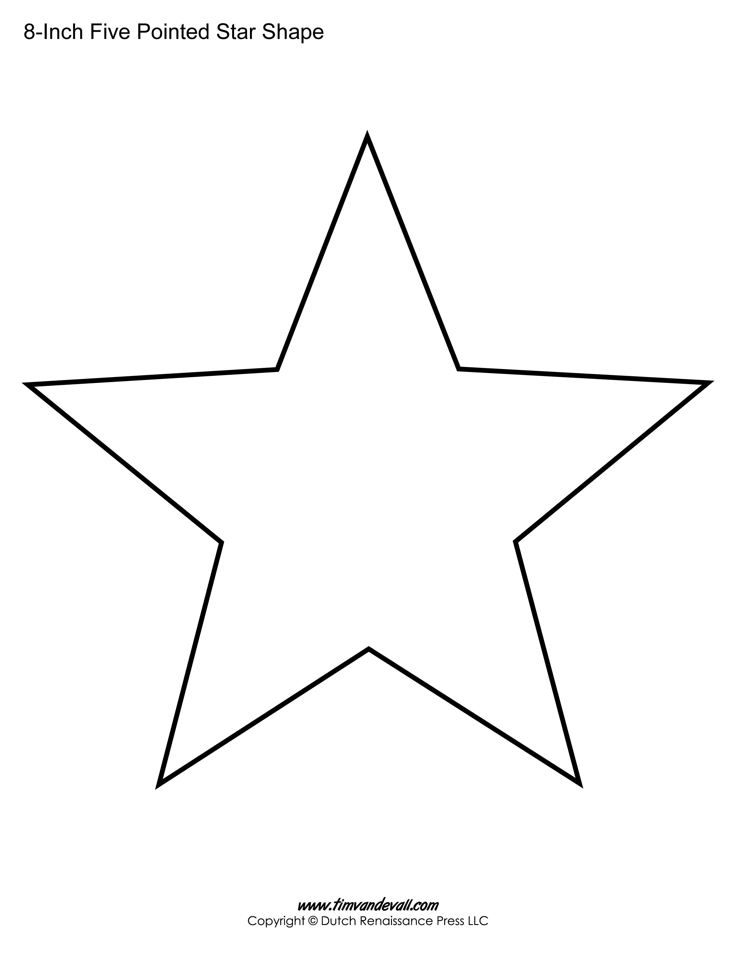 five sided star shape