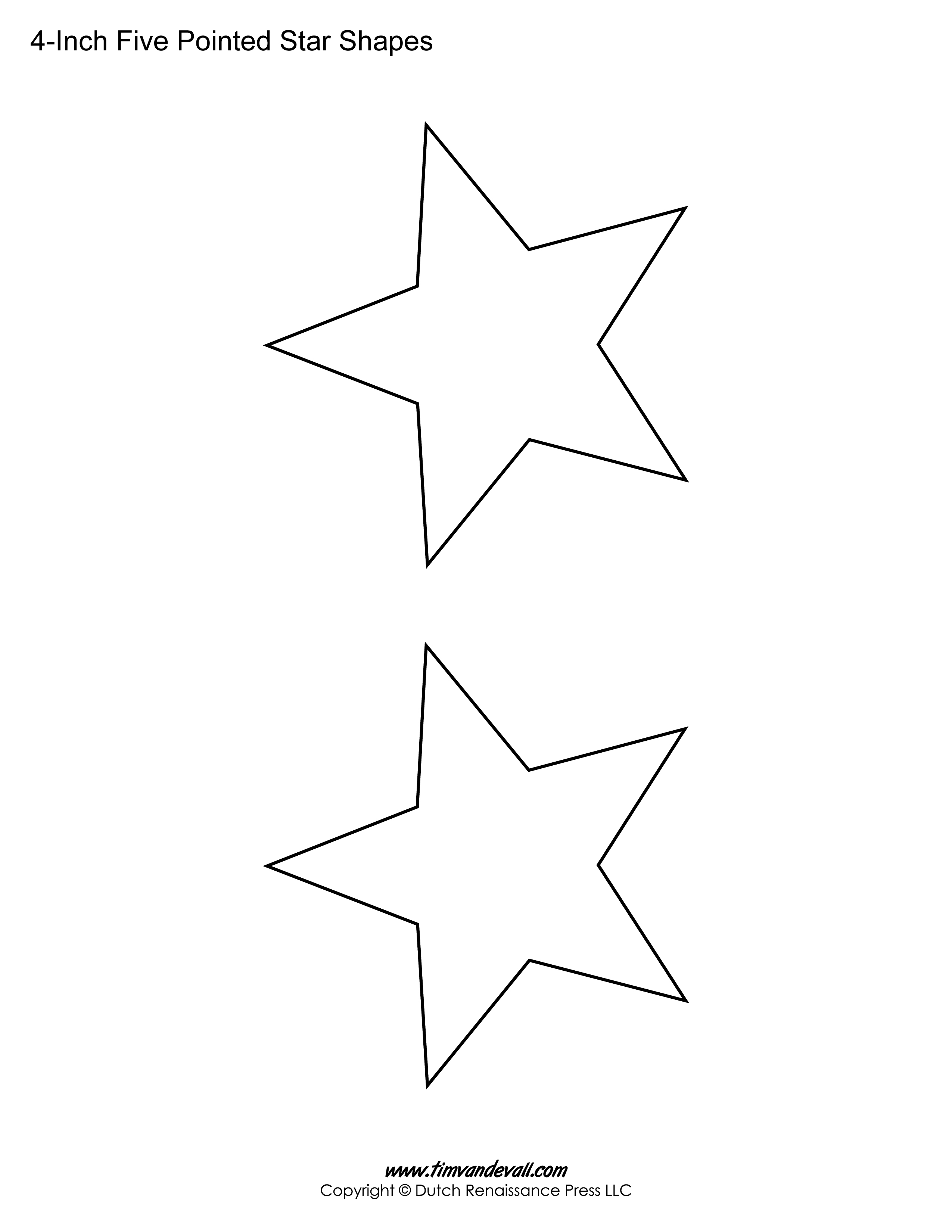 five sided stars