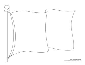 flag template printable